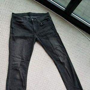 Levi's Men's Black Washed Jeans